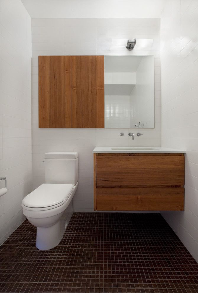 D&b Tile for a Modern Bathroom with a Minimalist and Madison Square Apartment by David Bucovy Architect