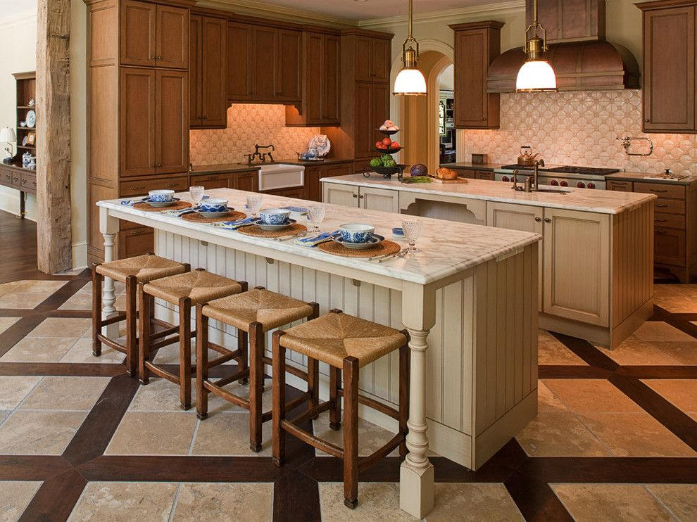 D&b Tile for a Traditional Kitchen with a Beadboard and William T Baker Houses by William T Baker