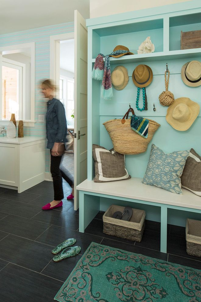 Declutter for a Transitional Entry with a Beach Style and Kellogg Road Residence by Martha O'hara Interiors