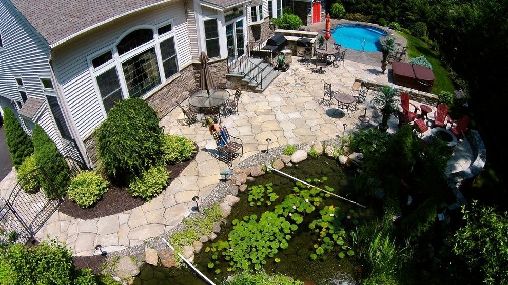 Decomposed Granite Patio for a Contemporary Spaces with a Landscape Design and Aerial by Pearl Landscaping & Patio Company