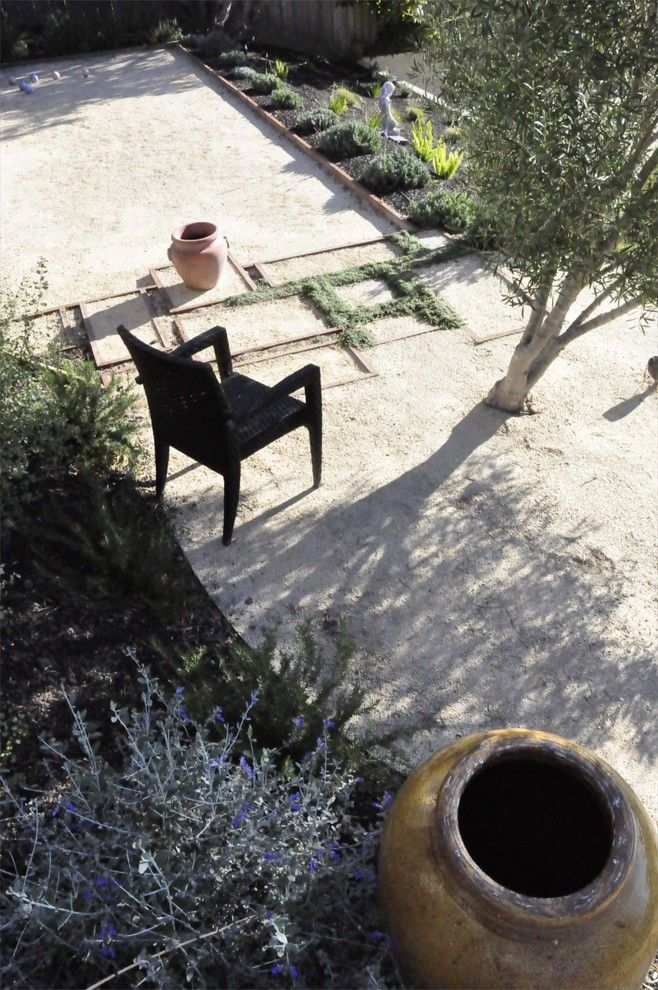 Decomposed Granite Patio for a Mediterranean Landscape with a Olive Trees and Coastal Mediter Asian by Jeffrey Gordon Smith Landscape Architecture