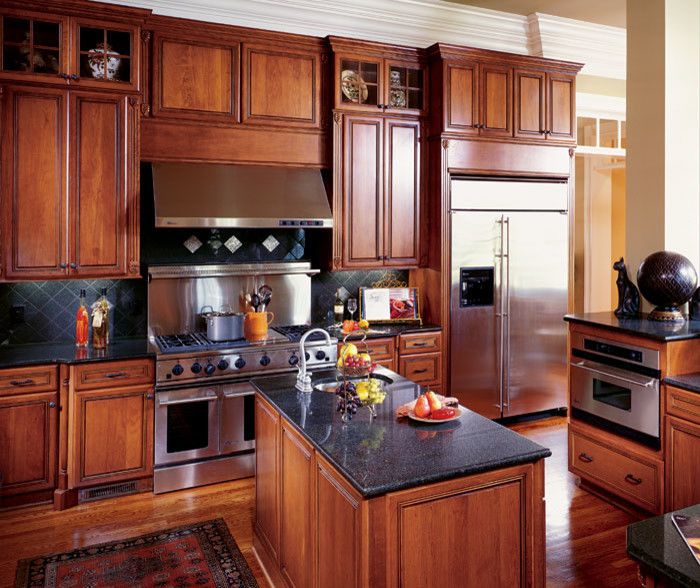 Decora Cabinets for a Traditional Kitchen with a Tile Backsplash and Decora Kitchen Cabinets by Gti Supply