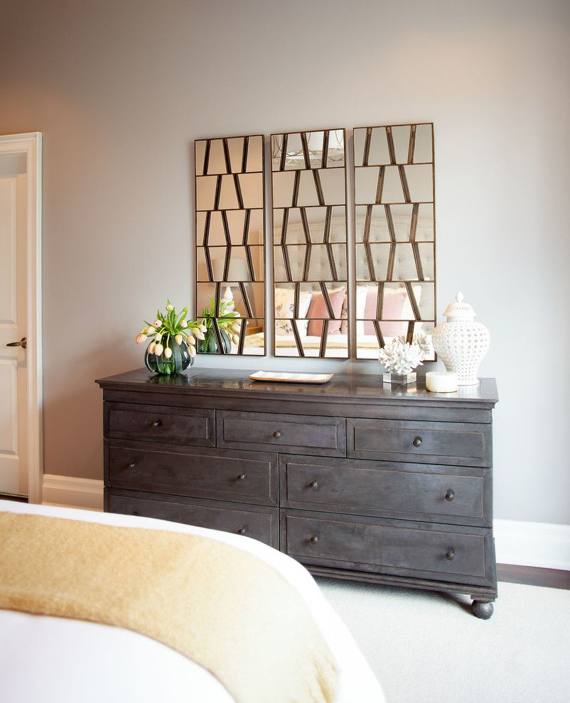 Decorium Furniture for a Contemporary Bedroom with a Neutral Palette and Bedford Park Residence by Meghan Carter Design, Inc.