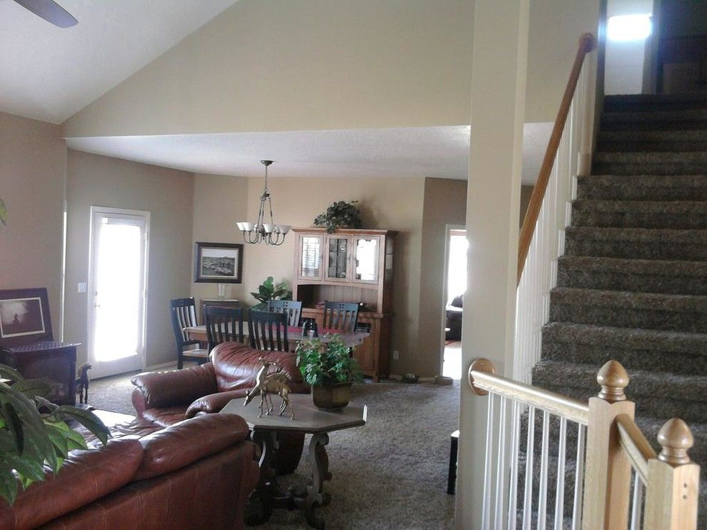 Decra for a  Living Room with a Cabinet Refinishing and Our Work by Decra Tech Painting