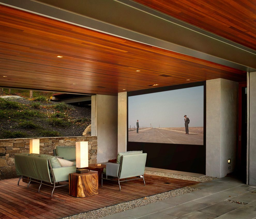 Del Monte Theater for a Modern Deck with a Stone and Kent Contemporary House by Michael Biondo Photography