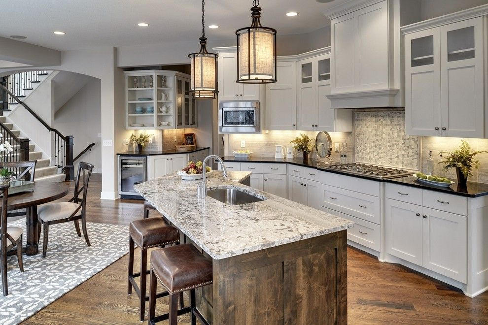 Del monte theater for a transitional kitchen with a open for Transitional house plans
