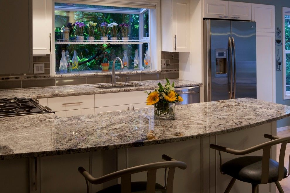 Delaney Hardware for a Traditional Kitchen with a Drawer and Door Hardware and the Crest by Delaney Kitchen and Design, Llc
