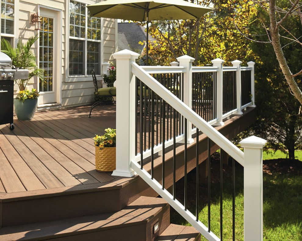 Denver Infill for a Contemporary Deck with a Contemporary and Fiberon Decking by Fiberon Decking
