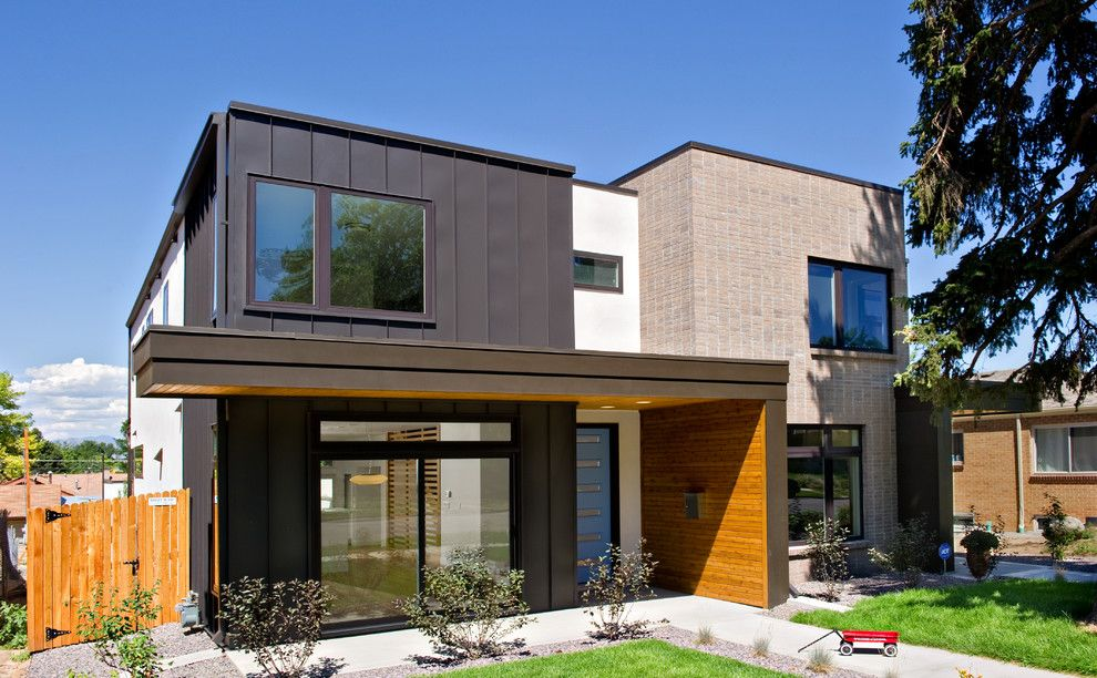 Denver Infill for a Contemporary Exterior with a Brick and Harvard Park Duos by Bcdc (B. Costello Design & Consulting, Llc)
