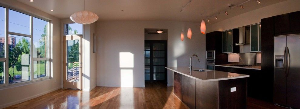 Denver Infill for a Contemporary Kitchen with a Oxidized Steel and Lofts at Old Hampden by Bcdc (B. Costello Design & Consulting, Llc)