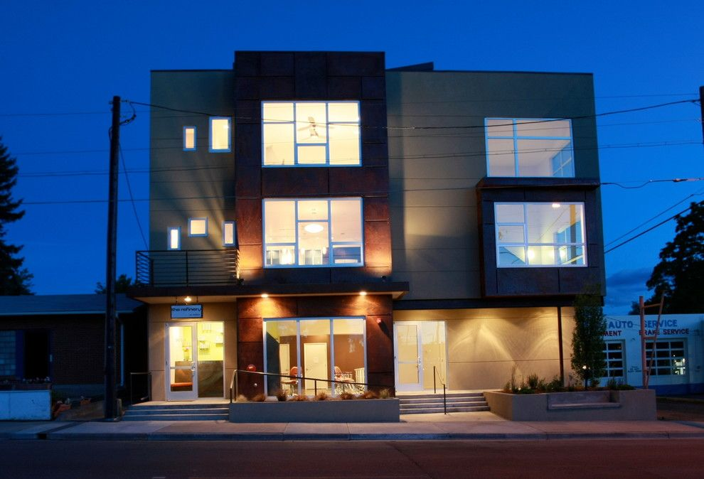 Denver Infill for a Modern Spaces with a Weathering Steel and Lofts at Old Hampden by Bcdc (B. Costello Design & Consulting, Llc)