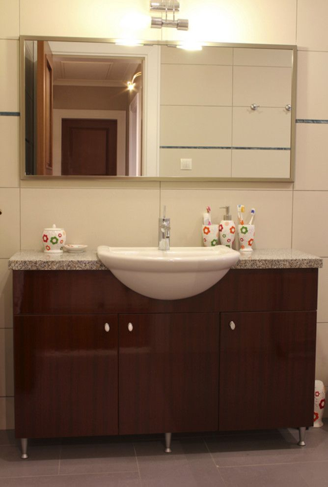Desert Liquidators for a Traditional Bathroom with a Single Sink Vanity and Our Projects by Desert Liquidators