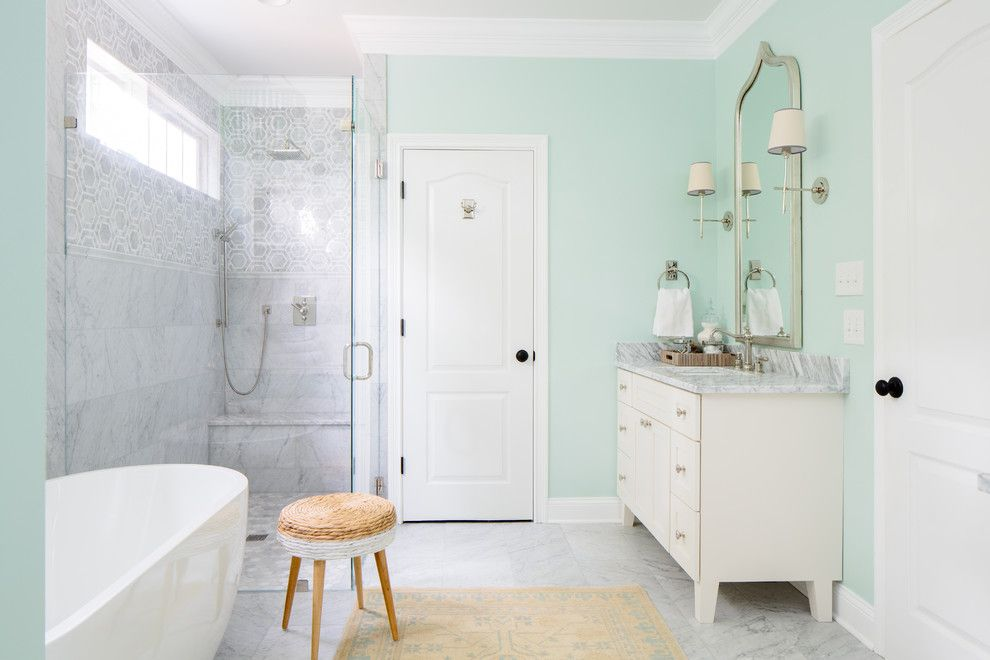 Dewey Furniture for a Transitional Bathroom with a Simple and Knoxville Traditional Bath by Natalie Clayman Interior Design