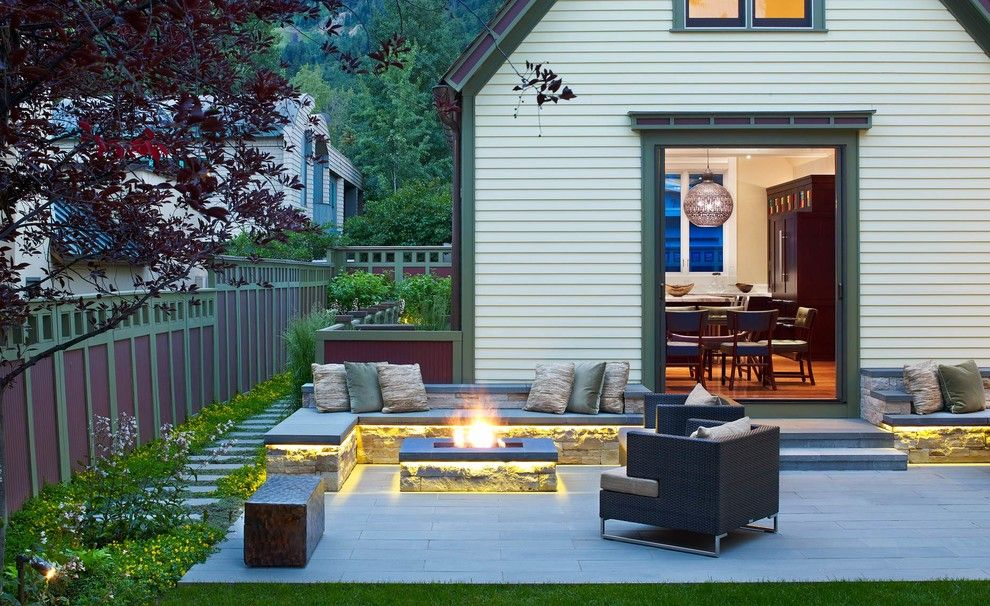Dewey Furniture for a Transitional Patio with a Stepping Stones and Various Landscape Architects, Exteriors by Jason Dewey Photography