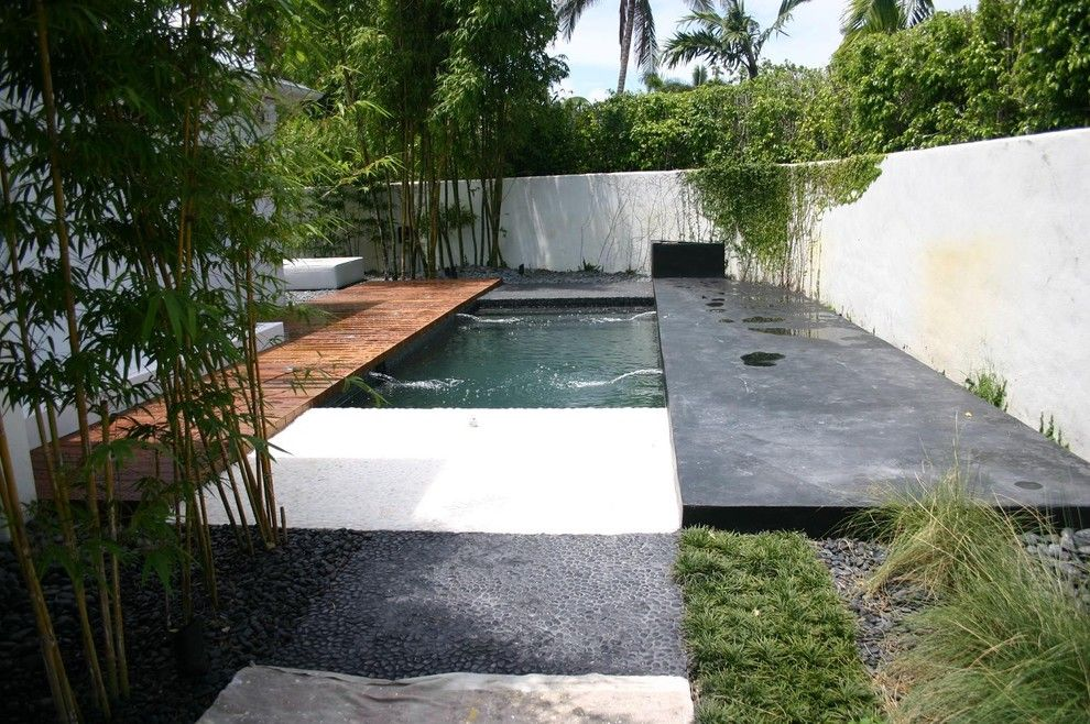 Diamond Brite for a Asian Pool with a Plaster and Balinese Glass Tile Pool by Foreverpools