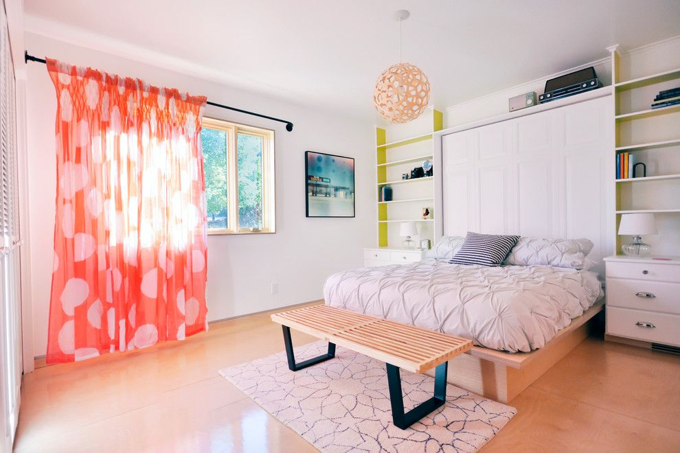 Difference Between Duvet and Comforter for a Contemporary Bedroom with a Plywood Floor and Pine Street Bedroom Remodel by Jen Dalley ||||||||||||||