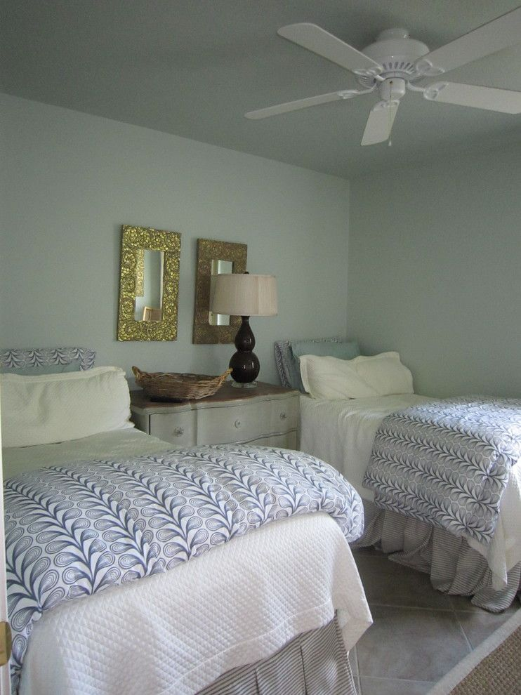 Difference Between Duvet and Comforter for a Eclectic Bedroom with a Guest Room and Lake House Ranch by Girl Meets Lake
