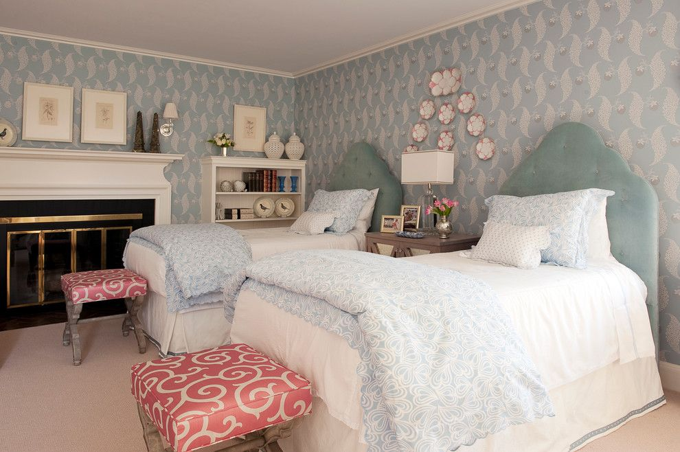 Difference Between Duvet and Comforter for a Traditional Bedroom with a White Mantel and Su Casa Designs by Su Casa Designs