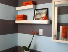 Directv Rio for a Contemporary Bathroom with a Striped Walls and Upward Bound House - Carlo Rios by houzz.com