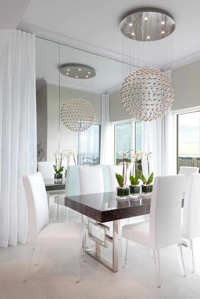 Directv Rio for a Contemporary Dining Room with a White Curtains and Bay Beach Lane by Mingle
