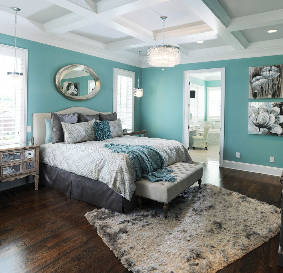 Directv Rio for a Traditional Bedroom with a Coffered Ceiling and Master Bedroom #1 by Brian Benda