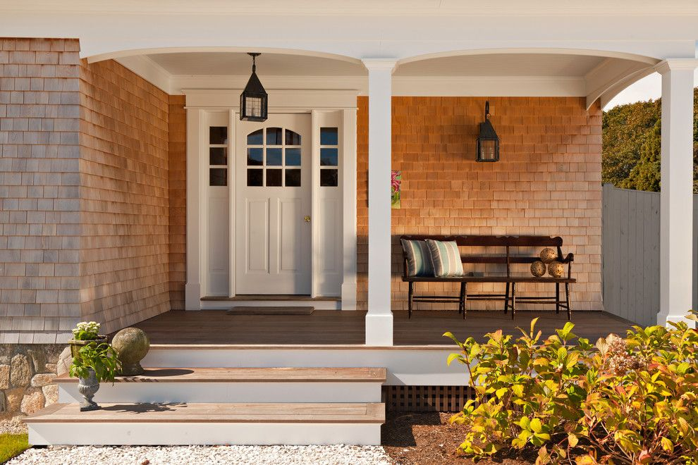 Directv Rio for a Traditional Entry with a Outdoor Wood Bench and Seaside Cottage by Castle Del Rio, Architects