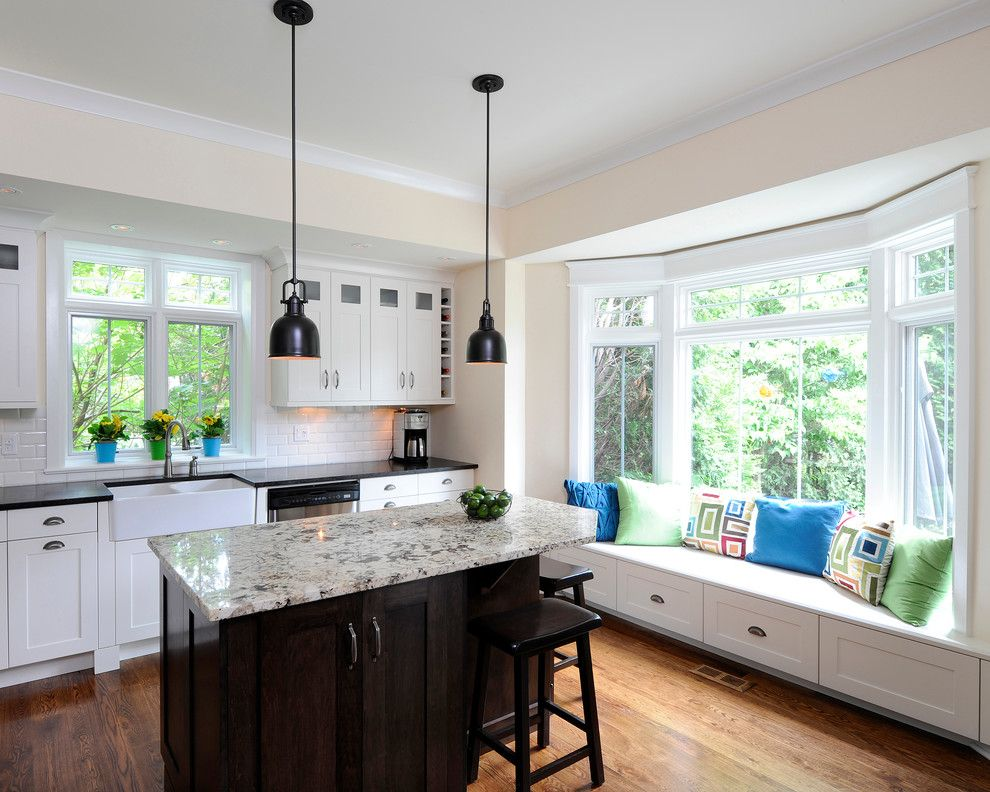Discover Marble and Granite for a Traditional Kitchen with a Farmhouse Sink and Maher Project by Barbara Purdy   Purdy & Associates Design