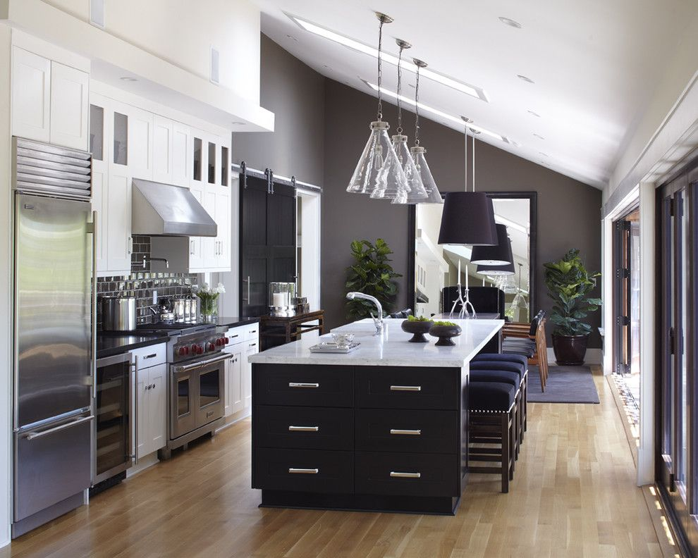 Discover Marble and Granite for a Transitional Kitchen with a Gray Walls and Mill Valley, Ca by Urrutia Design
