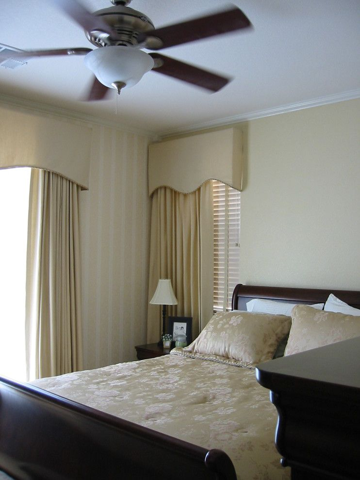 Distinctive Fabrics for a Traditional Bedroom with a Soft Cornice and Las Vegas by Designs of Distinction