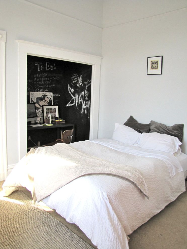 Diy Chalkboard Paint for a Eclectic Bedroom with a Eclectic and Bedroom by Annie Thornton