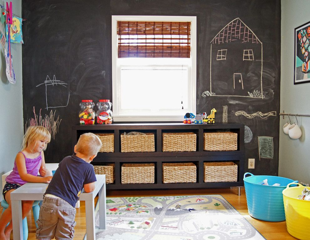 Diy Chalkboard Paint for a Transitional Kids with a Playroom and Eden Prairie Home by Willful® Goods with Intention