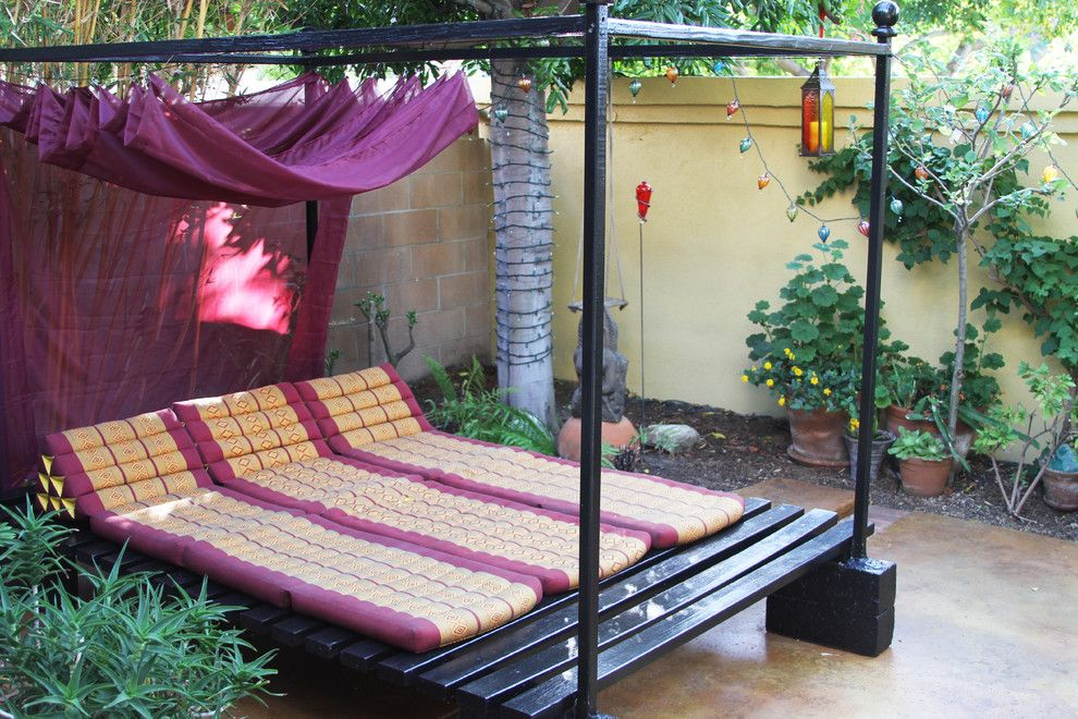 Diy Daybed for a Asian Patio with a Mats and M.a.p. Interiors by M.a.p. Interiors Inc. / Sylvia Beez