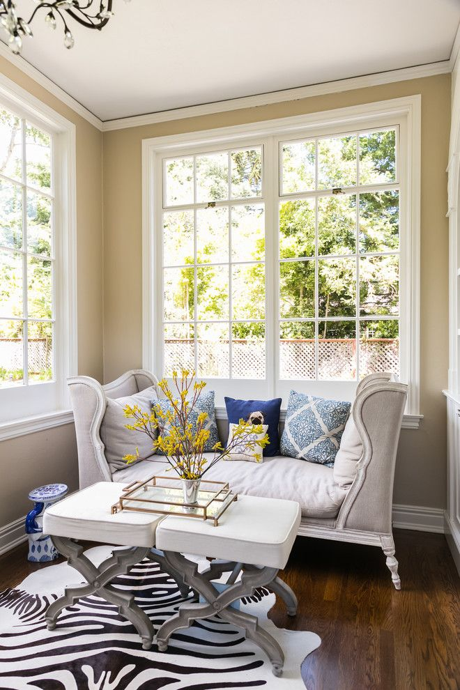 Diy Daybed for a Transitional Home Office with a Natural Light and Home Office Reading Nook by Kress Jack at Home