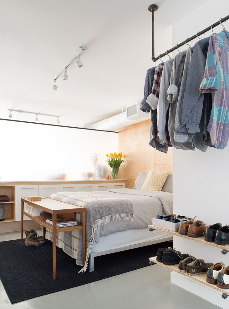 Diy Shoe Rack for a Contemporary Bedroom with a Studio and Pause Studio by Pause Designs