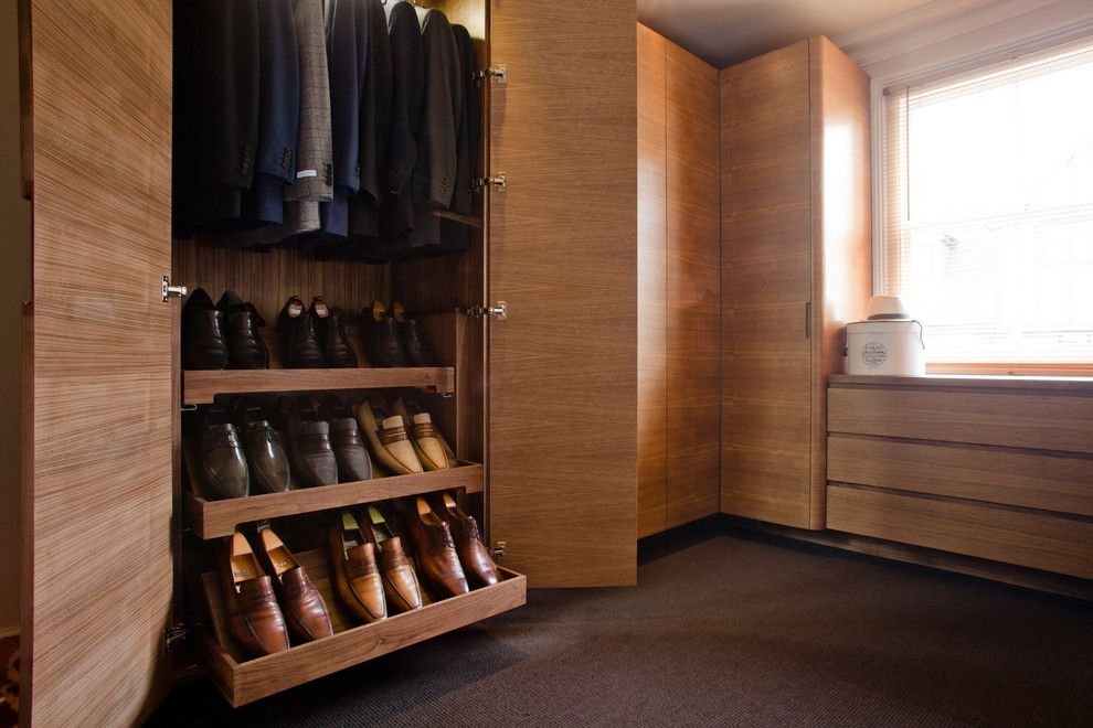 Diy Shoe Rack for a Contemporary Closet with a Dream Closet and Bespoke Dressing Room by Vincent Glue Design