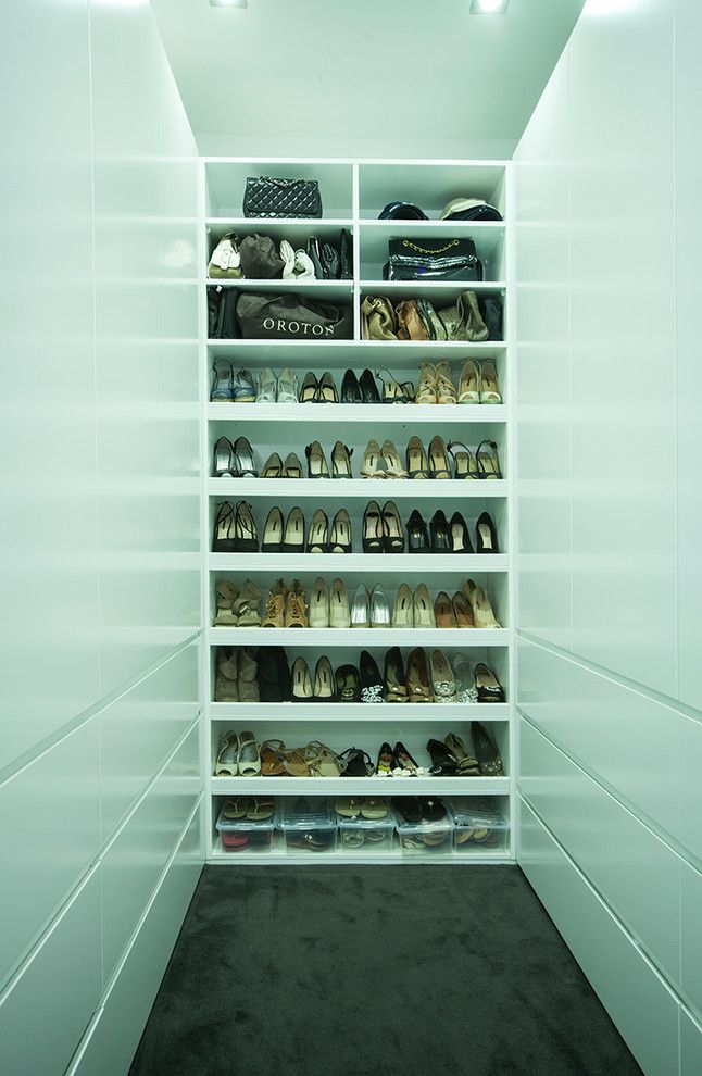 Diy Shoe Rack for a Modern Closet with a Blum and Guildford by Famous for Kitchens Australia