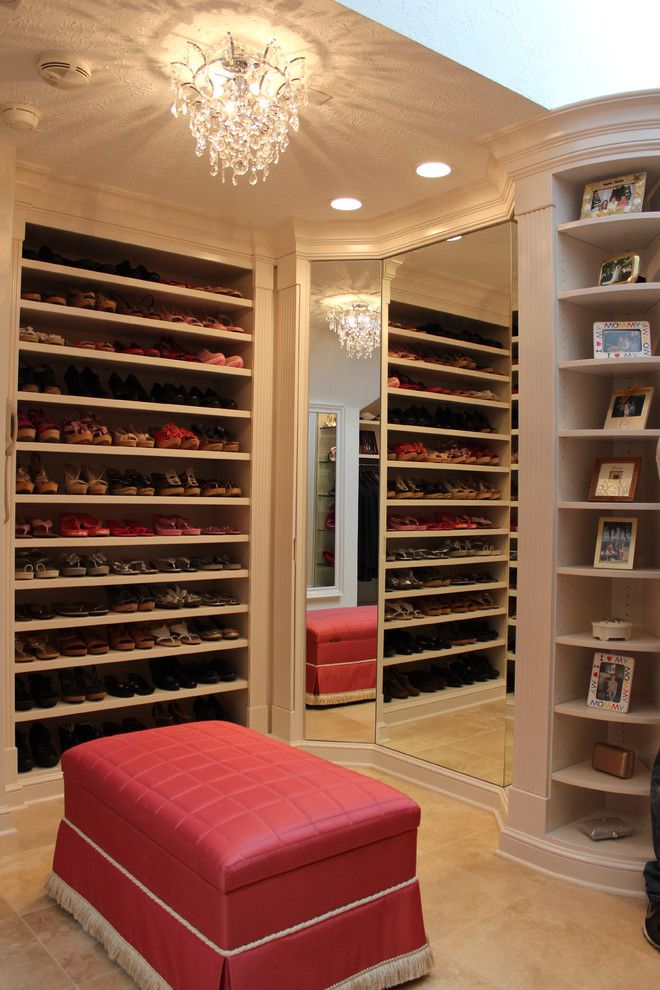 Diy Shoe Rack for a Traditional Closet with a Dream Closet and Closets by Dream Builders