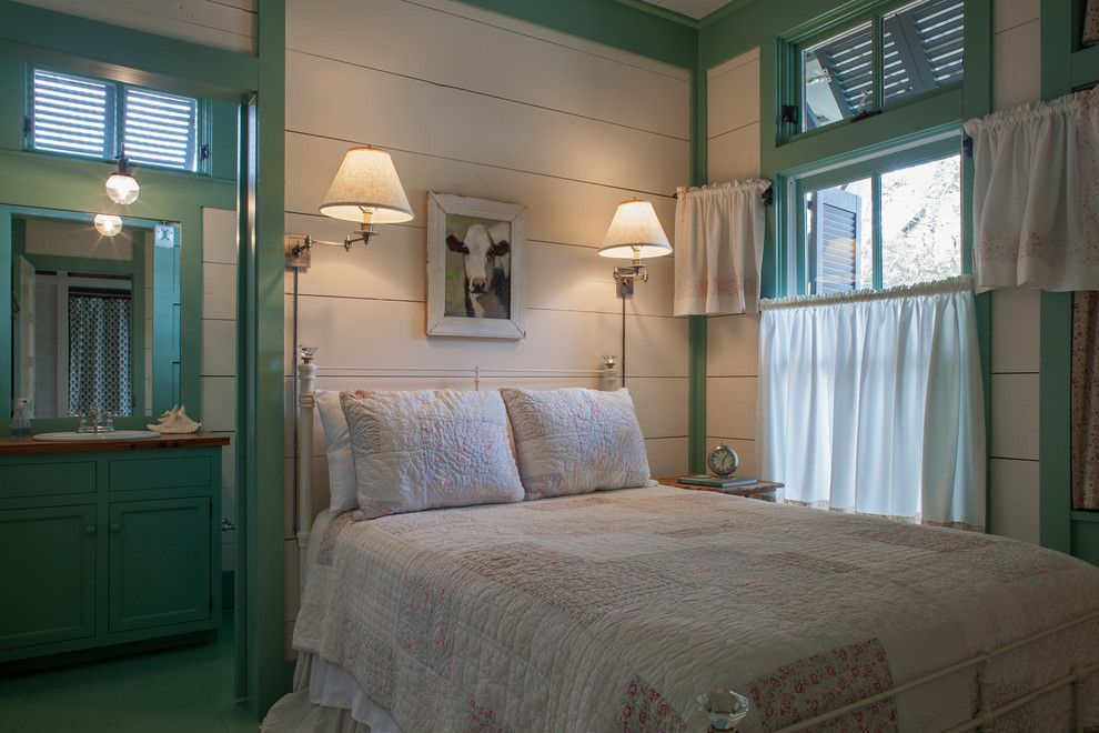Diy Whiteboard for a Beach Style Bedroom with a Mint Sink Cabinet and Fish Camp Beach Cottage by Historical Concepts