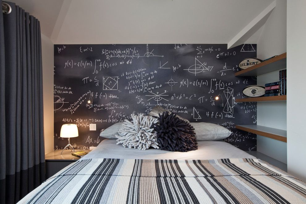 Diy Whiteboard for a Contemporary Bedroom with a Funky Teen Bedroom and Family Home on a Drive to the Heath by Clifton Interiors Ltd