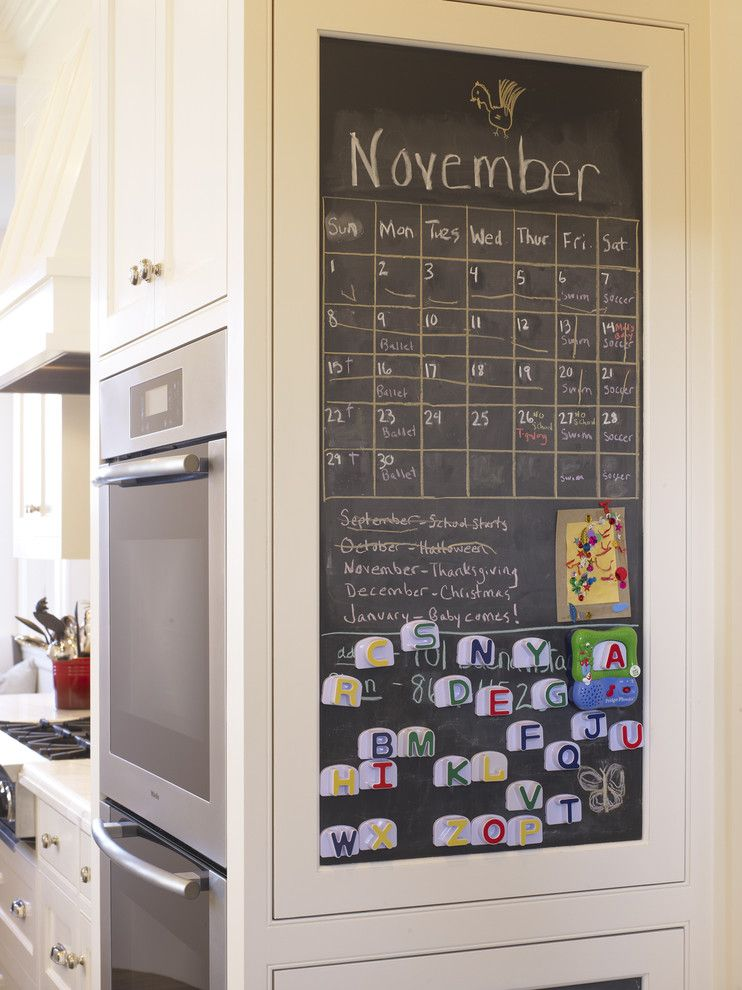 Diy Whiteboard for a Contemporary Kitchen with a Double Ovens and San Francisco Kitchen & Bath by Dijeau Poage Construction