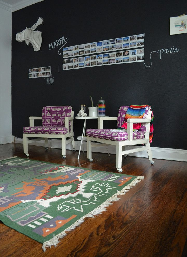 Diy Whiteboard for a Eclectic Home Office with a Side and Dallas, Tx: Sara & Rocky Garza by Sarah Greenman