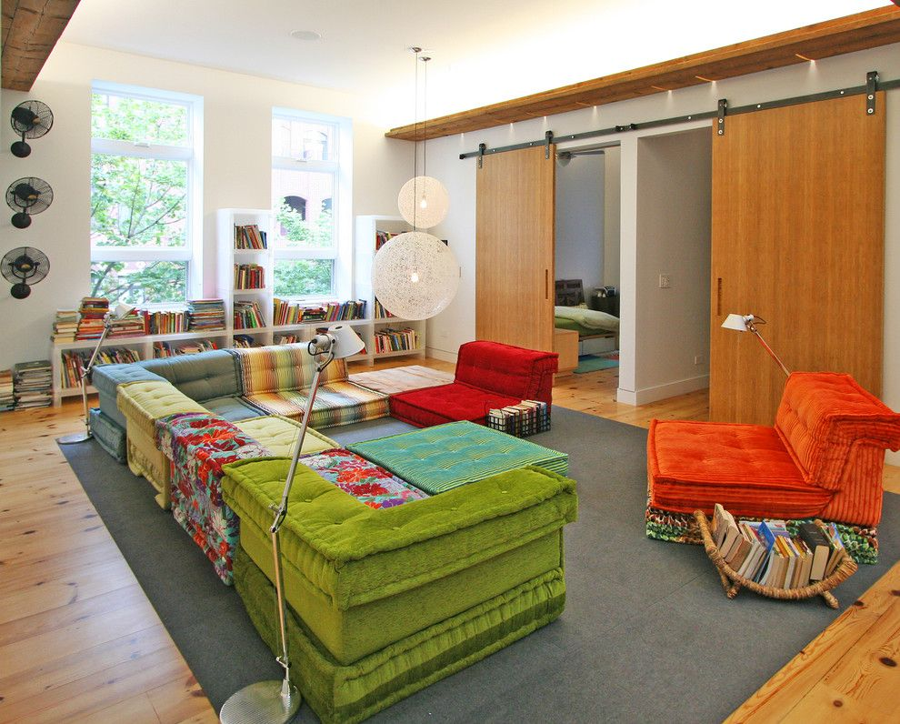 Doerr Furniture for a Contemporary Kids with a Wall Fans and Gathering Room by Sullivan, Goulette & Wilson Ltd. Architects