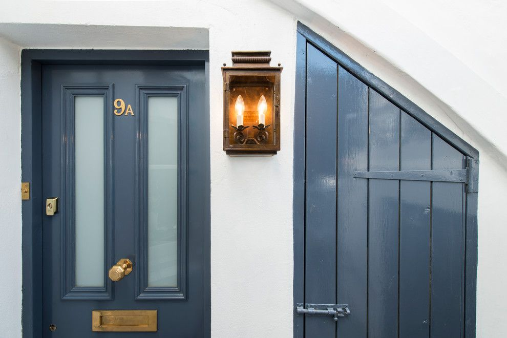 Doerr Furniture for a Traditional Exterior with a Brass Door Furniture and Fulham Garden Flat by Lisette Voute Designs