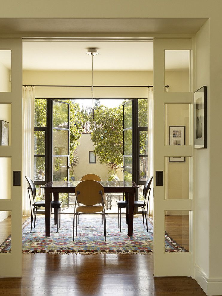 Doerr Furniture for a Transitional Dining Room with a Wall Decor and Menlo Park Residence by Moroso Construction