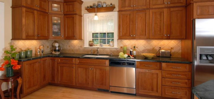 Domicile Furniture for a Traditional Kitchen with a Brushed Nickel Hardware and Italian-Inspired Kitchen by Bella Domicile