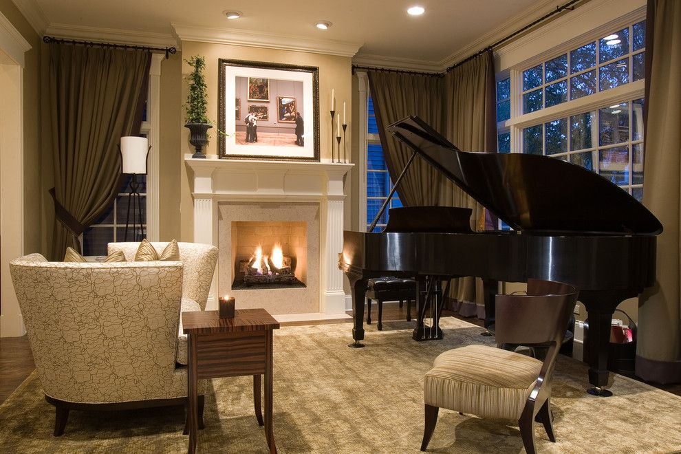 Donghia for a Traditional Living Room with a Ceiling Lighting and Wolfram Living Room by Michael Abrams Limited