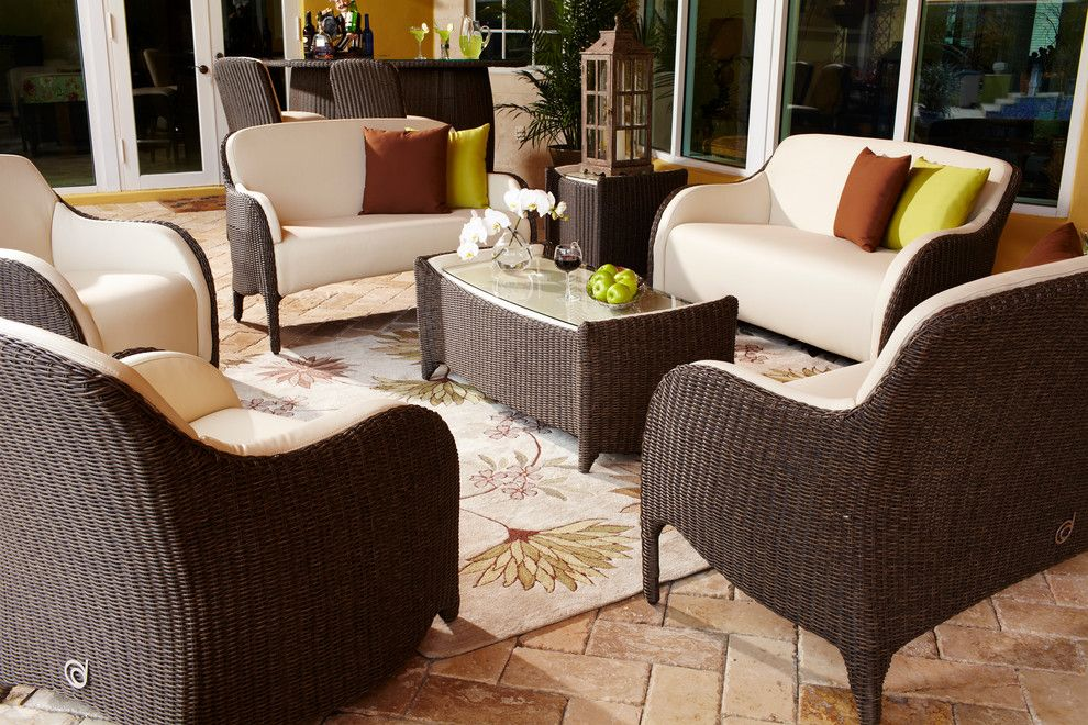 Dorado Furniture for a Traditional Patio with a Ultra Plush and Luxor Outdoor Living Room Set by El Dorado Furniture