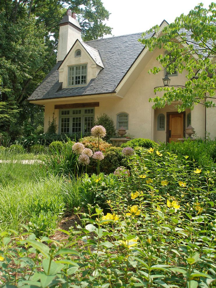 Dormer Windows for a Traditional Landscape with a Retreat and Summer's Garden by Wheat's Landscape