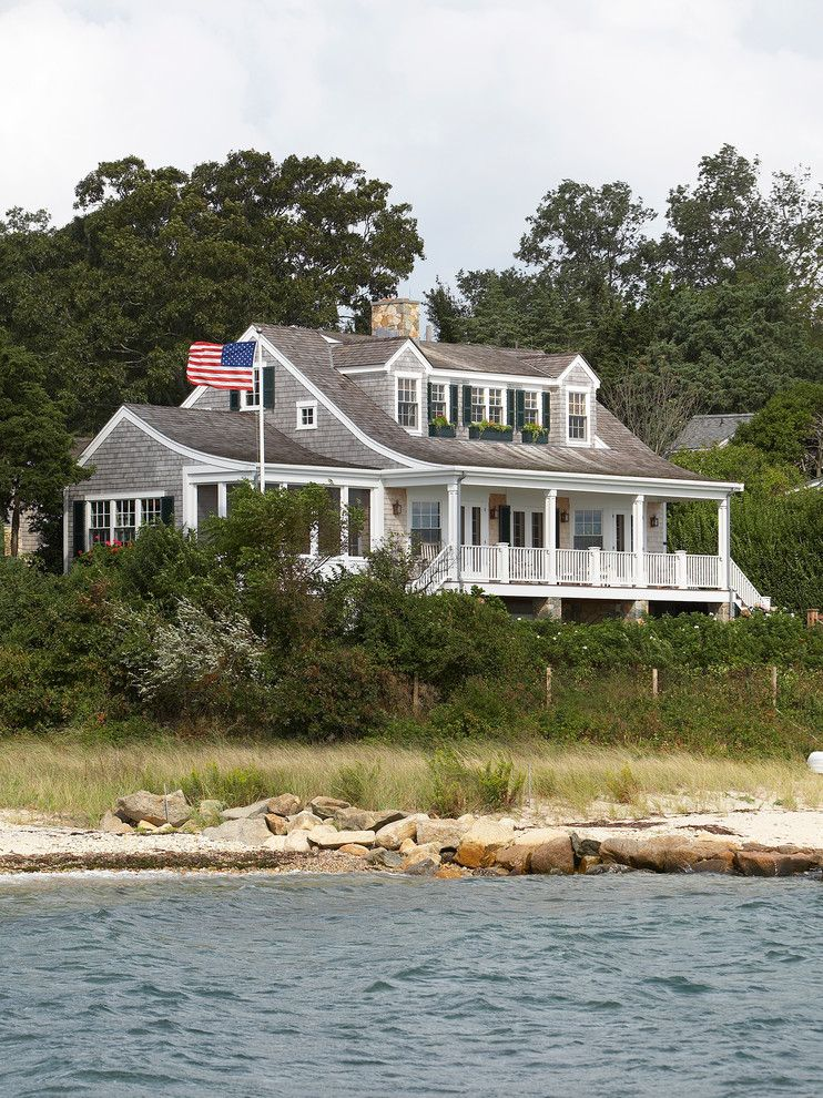 Dormers for a Beach Style Exterior with a Coastal and Halpert at the Vineyard by Gil Walsh Interiors