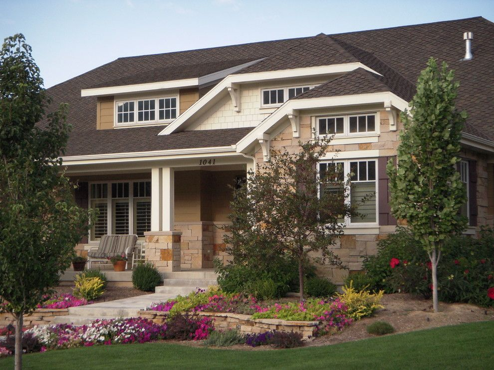Dormers for a Craftsman Exterior with a Path and House Exterior6 by Dale Browne